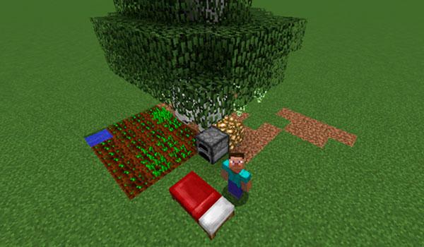 Imagen donde vemos un jugador aprovechando el potencial del mod Simulated Nights 1.12, que permite transcurrir el tiempo mientras dormimos en Minecraft.