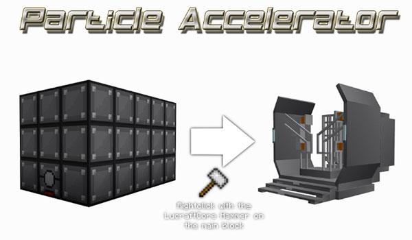 Imagen donde podemos una de las estructuras más características del mod Speedster Heroes 1.12, 1.12.1 y 1.12.2, el acelerador de partículas.