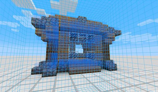 Imagen donde vemos a un jugador utilizando las herramientas del mod Architect 1.12, 1.12.1 y 1.12.2 para replicar construcciones.