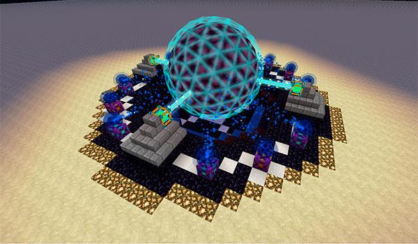 Imagen donde vemos la estructura que añade el mod Draconic Evolution 1.12, 1.12.1 y 1.12.2, que sirve para generar enormes cantidades de energía.
