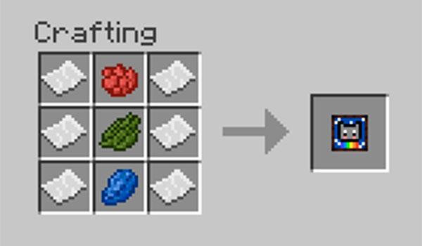Imagen donde podemos ver el proceso de fabricación del objeto principal del mod Imaginary 1.12, 1.12.1 y 1.12.2.