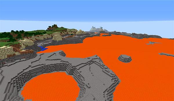 Ejemplo donde podemos ver una dimensión creada por un jugador de Minecraft, utilizando el mod Simple Dimensions 1.12, 1.12.1 y 1.12.2.