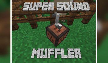 Super Sound Muffler Mod para Minecraft 1.12, 1.12.1 y 1.12.2