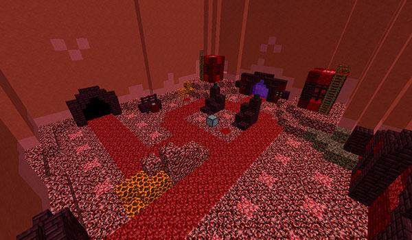 Imagen donde podemos ver uno de los escenarios de batalla del mapa Tower Defense 1.12 y 1.12.2.
