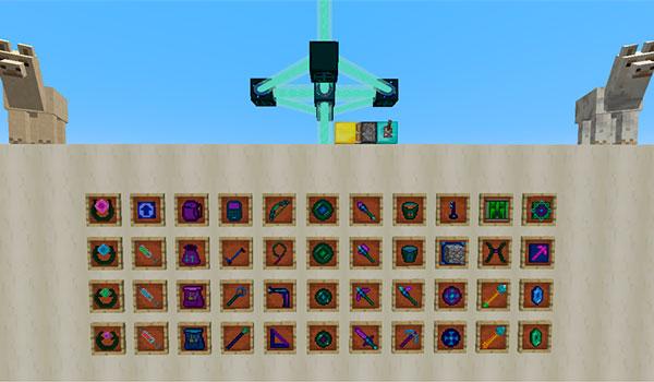 Imagen donde podemos ver una muestra con todos los objetos que podremos crear con el mod Ender Utilities 1.12, 1.12.1 y 1.12.2.