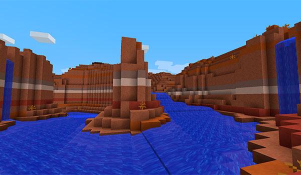 Imagen donde vemos el nuevo aspecto, más realista, que tendrán los ríos con el mod Streams 1.12, 1.12.1 y 1.12.2 instalado.