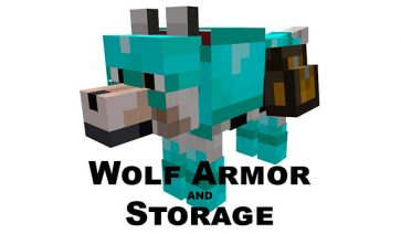 Wolf Armor and Storage Mod para Minecraft 1.12, 1.12.1 y 1.12.2