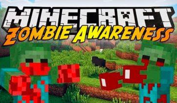 Zombie Awareness Mod para Minecraft 1.12.1 y 1.12.2