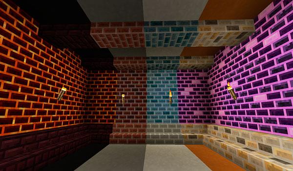 Imagen donde podemos ver algunos de los nuevos bloques de construcción y decoración que podremos crear y utilizar con el mod Ceramics 1.12, 1.12.1 y 1.12.2.