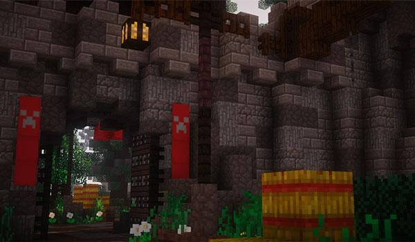 Imagen donde podemos ver el aspecto que adquiere una fortaleza con las texturas Echelon Texture Pack 1.12.