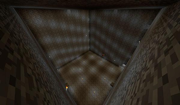 Imagen donde podemos ver la sala más grande, dentro de otra dimensión, que podremos crear con el mod Compressed Factory 1.12.2.