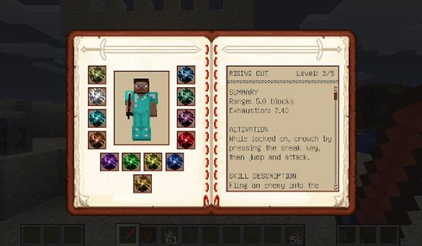 Dynamic Sword Skills Mod para Minecraft 1.12.2