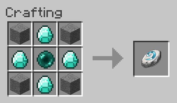Imagen donde podemos ver cómo se fabrica el único objeto que añade el mod Hearthstone 1.12.2.