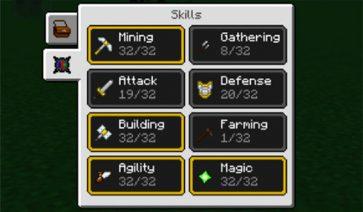 Skillable Mod para Minecraft 1.12, 1.12.1 y 1.12.2