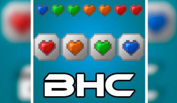 Baubley Heart Canisters Mod para Minecraft 1.12, 1.12.1 y 1.12.2