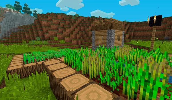 Imagen donde podemos ver el aspecto que tendrán las aldeas al instalar el paquete de texturas Better Vanilla 1.12 y 1.11.