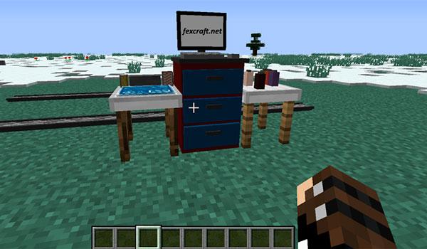 Imagen donde podemos ver el constructor de vehículos que añade el mod Fex's Vehicle and Transportation 1.12, 1.12.1 y 1.12.2.