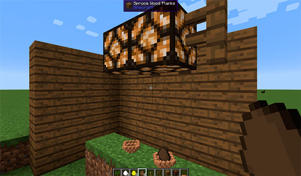 Imagen donde vemos cómo un jugador instala lámparas para ayudar a que salgan los polluelos de los huevos, gracias a los objetos del mod Hatchery 1.12.2.