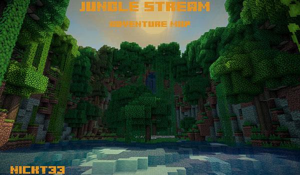Jungle Stream Map para Minecraft 1.12