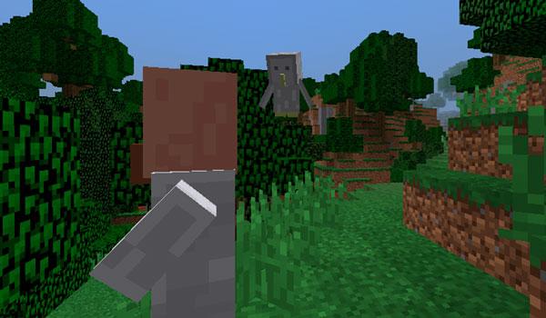Imagen donde podemos ver a uno de los búhos que añade el mod Owls 1.12, 1.12.1 y 1.12.2, volando para perseguir a un jugador.