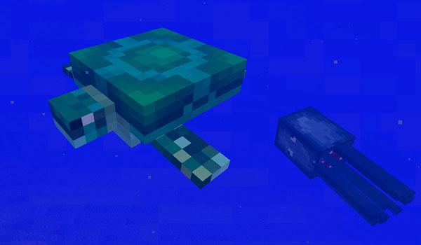 Tortugas marinas en Minecraft 1.13