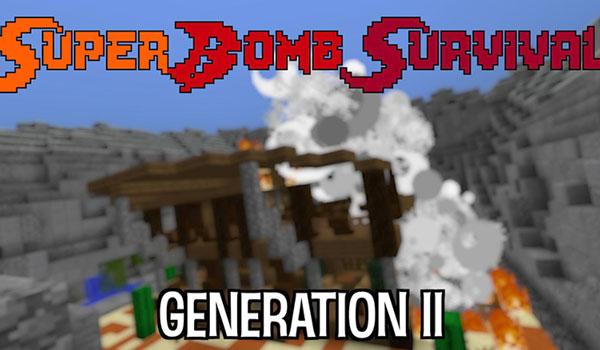 Super Bomb Survival II Map para Minecraft 1.12