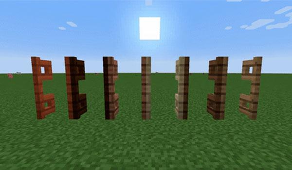 Imagen donde podemos ver las puertas de valla de madera dobles, en este caso en posición abierta, que nos permite crear el mod Tall Gates 1.12.2.