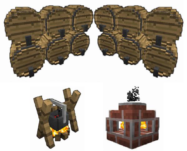 Imagen donde podemos ver algunos de los objetos funcionales que añade el mod Cultivated Tech 1.12.2.