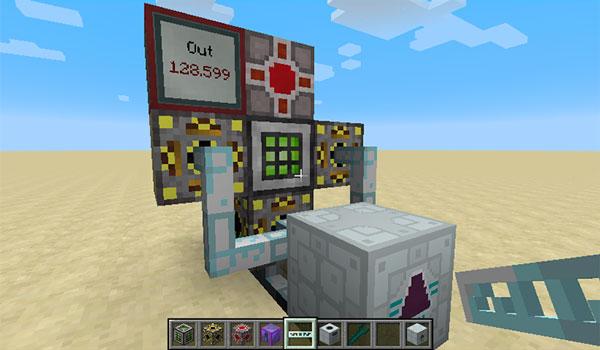 Imagen donde podemos ver un sistema de conversión de energía, construido con los elementos del mod Energy Converters 1.12, 1.12.1 y 1.12.2.
