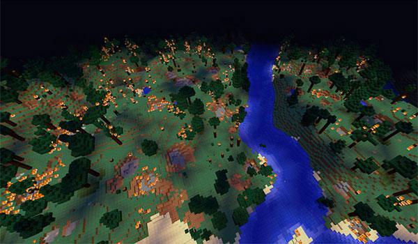 Imagen donde podemos ver el caos generado por las criaturas modificadas que añade el mod Epic Siege 1.12.2.