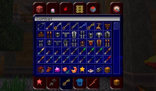 Imagen donde podemos ver un buen ejemplo del aspecto de las armas y armaduras que encontraremos en Eternal Hearts Texture Pack 1.12 y 1.11.