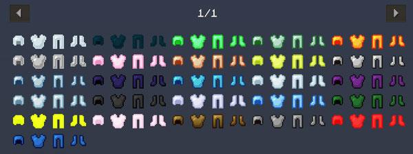 Imagen donde podemos ver todos los nuevos conjuntos de armadura, hasta veintitrés, que podremos fabricar con el mod Hardcore Armor 1.12, 1.12.1 y 1.12.2.