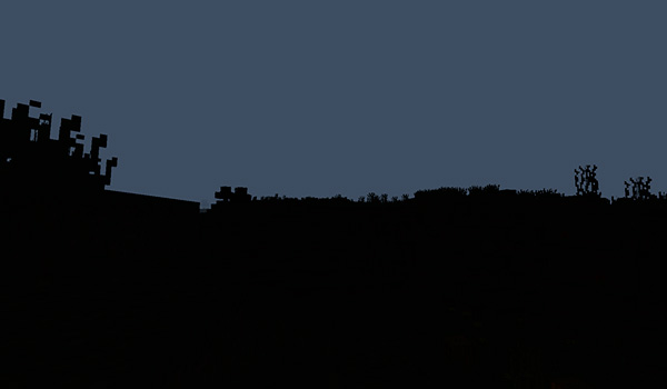 Imagen donde podemos hacernos una idea de cómo será la dimensión nocturna que añade el mod Hunting Dimension 1.12.2.