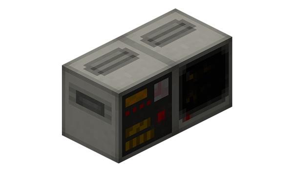 Imagen donde podemos ver uno de las computadoras que podremos crear con el mod Retro Computers 1.12, 1.12.1 y 1.12.2.