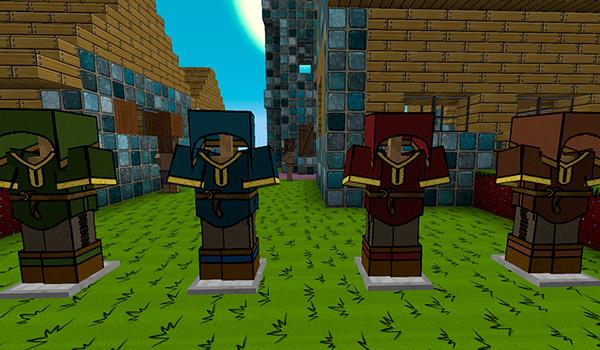 Imagen donde podemos ver el aspecto que tendrán las armaduras del personaje con Sassgaard Texture Pack 1.12.