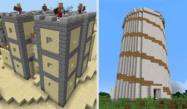 Imagen donde podemos ver un ejemplo de las nuevas estructuras que añade el mod Toro Quest 1.12, 1.12.1 y 1.12.2.