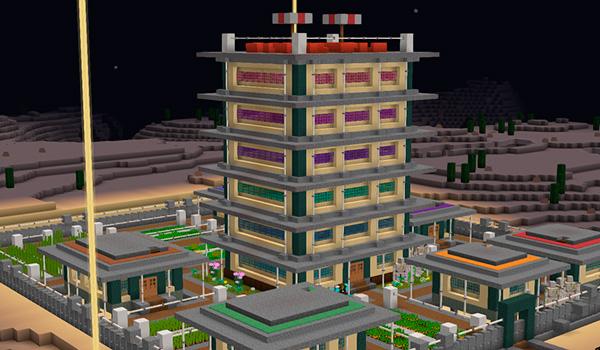 Imagen donde podemos ver varios edificios construidos usando las texturas del paquete Velvet Dreams 1.14 y 1.12.