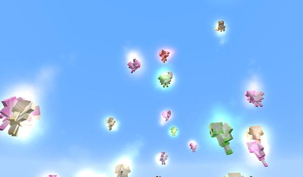Imagen donde podemos ver a los Fairies, una de las nuevas criaturas que añade el mod EmberRoot Zoo 1.12, 1.12.1 y 1.12.2.