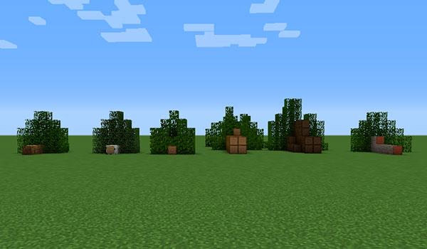 Imagen donde podemos ver árboles talados, que han quedado en el suelo, en posición horizontal, debido al efecto del mod Chop Down Updated 1.12.2.