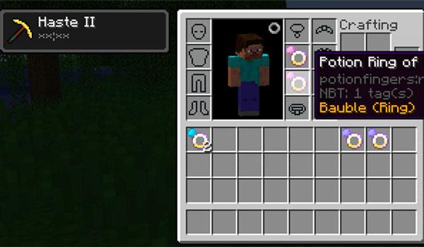 Potion Fingers Mod para Minecraft 1.12, 1.12.1 y 1.12.2