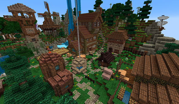 Imagen donde vemos una de las zonas del mapa The Siegebreaker 1.12, que representa un poblado.