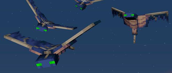 Este es el aspecto definitivo que tendrá la nueva criatura hostil que aparecerá en Minecraft 1.13, el Fantasma o Phantom.