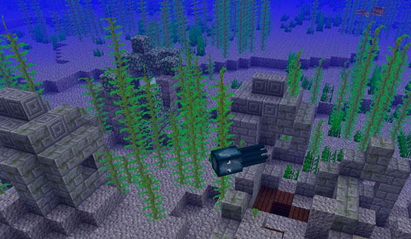Ruinas submarinas en Minecraft 1.13