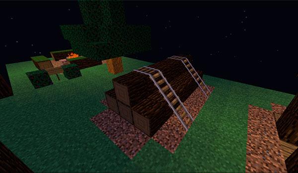 Imagen donde vemos algunas de las formaciones o estructuras que se generarán tras instalar el mod The Boy Scout 1.12.2.