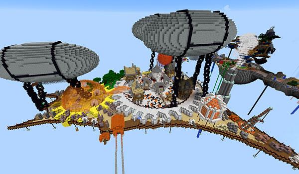 Imagen donde podemos ver un área de The Siegebreaker Map 1.12, que transcurre en los cielos.