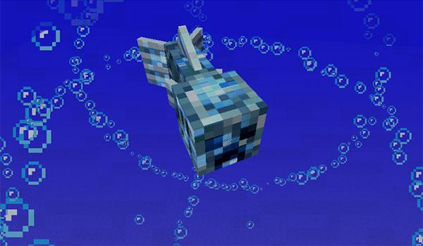 Imagen donde podemos ver uno de los Creepers acuáticos que nos encontraremos al instalar el mod Aqua Creepers 1.12.2.