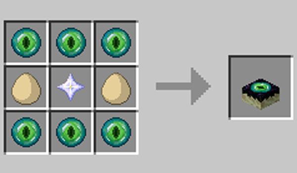 Imagen donde podemos ver cuál es el proceso de elaboración de la tarta que nos permite crear el mod EndCake 1.12.2.