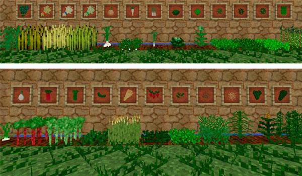 Imagen donde podemos ver todos los nuevos cultivos que nos ofrece el mod Medieval Agriculture 1.12.2.
