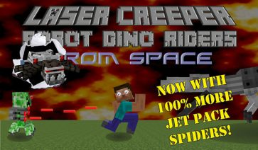 Laser Creeper Robot Dino Riders Mod para Minecraft 1.12.2