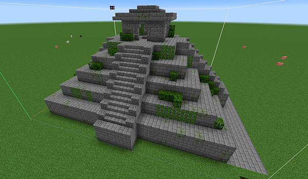 Imagen donde podemos ver una de las estructuras que añade el mod Additional Structures 1.12, 1.12.1 y 1.12.2, en este caso un templo Maya.
